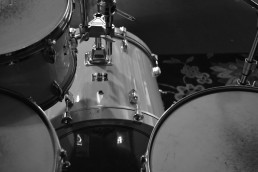 Drum Photo B&W Background
