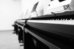 Piano Photo B&W Background