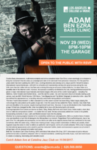Bass Clinic | ADAM BEN EZRA | Nov 29 @ LACM Garage | Pasadena | California | United States