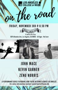 On The Road | Holy Grounds Coffee & Tea | Nov 3 @ Holy Grounds Coffee & Tea | Los Angeles | California | United States