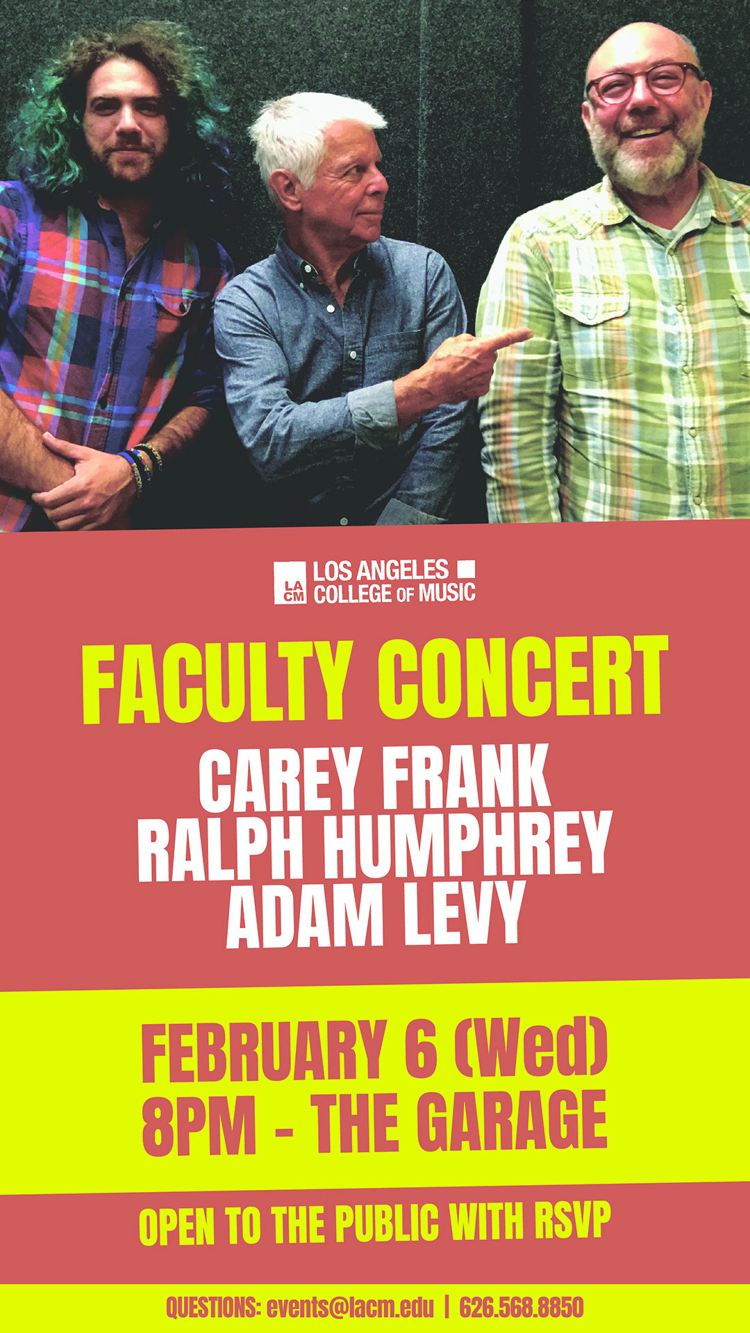 LACM Faculty Concert feat. Carey Frank, Ralph Humphrey and Adam Levy