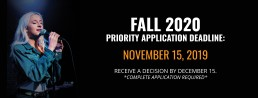 Priority Application Deadline Fall 2020, November 15