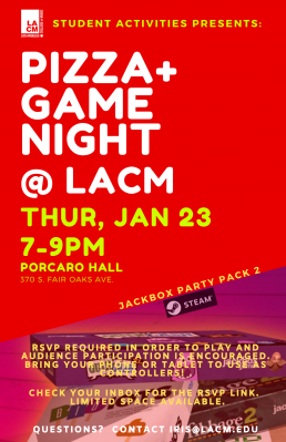 Pizza & Game Night @ LACM