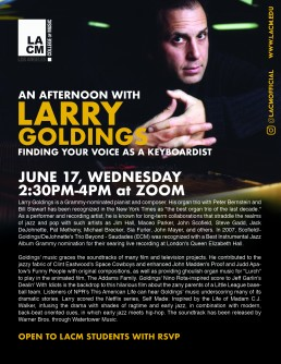 An afternoon with Larry Goldings