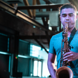 Student on Saxophone