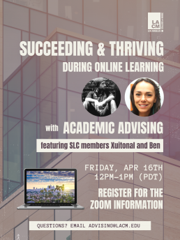 Academic Workshop - Succeeding & Thriving During Online Learning