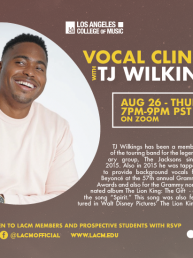 08.26 TJ Wilkins Vocal Clinic